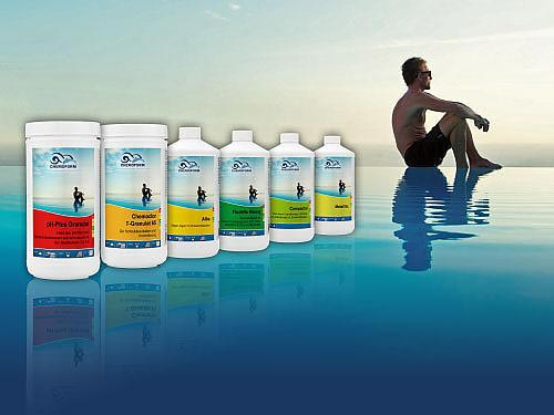 Divers produits d'entretien pour piscine