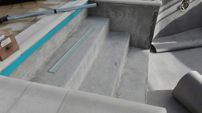 rénovation des marches de piscine Nantes