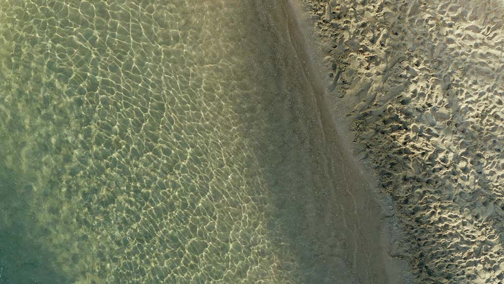 Piscine à fond de sable