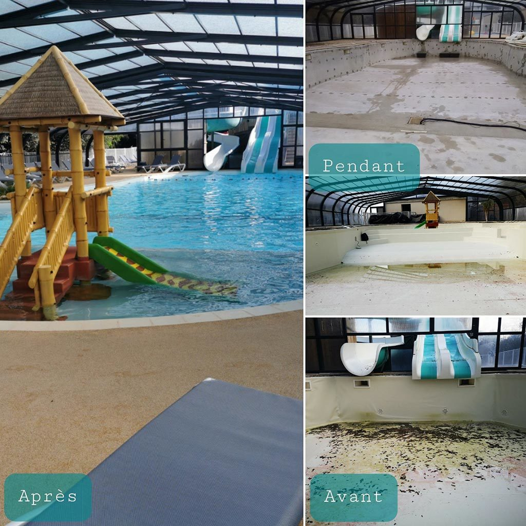 Rénovation d'une piscine de 180 m² à skimmer