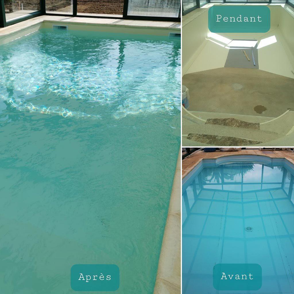 Rénovation d'une piscine de particulier 4.00 x 9.00 m,